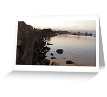 Plymouth Sunset Greeting Card