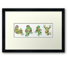 Turtle Brothers Framed Print