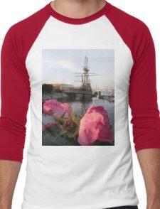 Mayflower's Flowers Men's Baseball ¾ T-Shirt