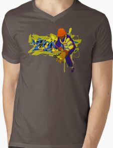 Street Style Mix Master Mens V-Neck T-Shirt