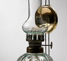 retro style glass decorative oil lamp by Arletta Cwalina
