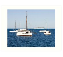 Sorrento Sailing Couta Boat Club Art Print