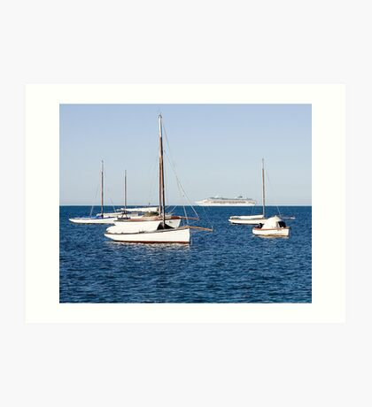 Sorrento Sailing Couta Boat Club Art Print
