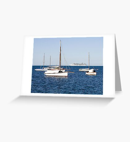 Sorrento Sailing Couta Boat Club Greeting Card