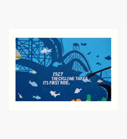 Coney Island Mural No.2 Art Print