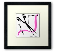 Sewing Scissors Seamstress Tailor Framed Print
