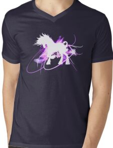 Shiny Pegasus Mens V-Neck T-Shirt