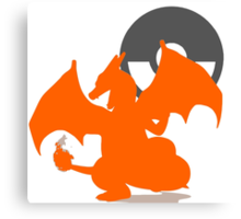 Smash Bros - Charizard Canvas Print