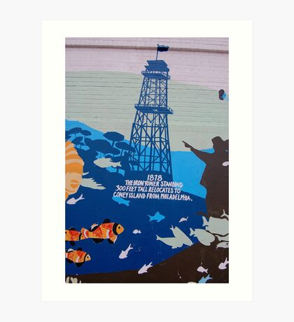 Coney Island Mural No.9 Art Print