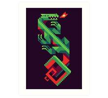 Fire Lizard Art Print