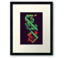 Fire Lizard Framed Print