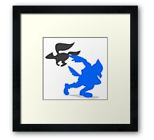 Smash Bros - Falco Framed Print
