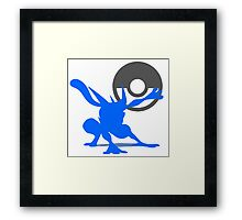 Smash Bros - Greninja Framed Print