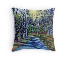 'Early Spring Morning, Bass Lake' Throw Pillow
