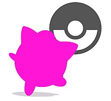 Smash Bros - Jigglypuff Photographic Print