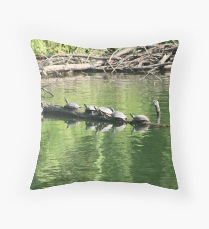 Bumps On A Log Throw Pillow
