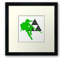 Smash Bros - Link Framed Print