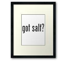 Got Salt? Framed Print