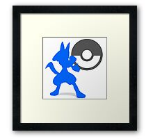 Smash Bros - Lucario Framed Print