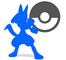 Smash Bros - Lucario Photographic Print