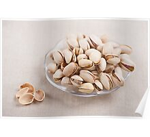 pistachio nuts in shell lying Poster