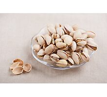 pistachio nuts in shell lying Photographic Print