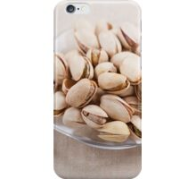 pistachio nuts in shell lying iPhone Case/Skin