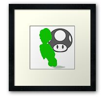 Smash Bros - Luigi Framed Print