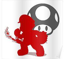 Smash Bros - Mario Poster