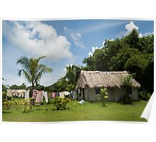 Fijian Village Poster