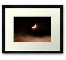 Solar Eclipse 2015 - 09.56am Framed Print