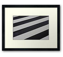 Industrial Zebra Framed Print