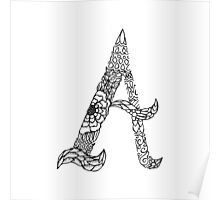 Patterned Letter A Poster