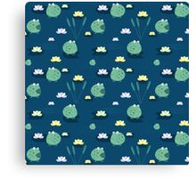 Cute frogs Canvas Print