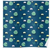 Cute frogs Poster
