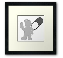 Smash Bros - Dr. Mario Framed Print