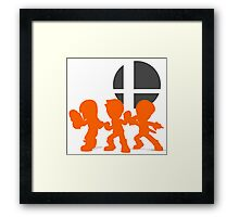 Smash Bros - Mii Fighter Framed Print