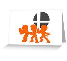 Smash Bros - Mii Fighter Greeting Card