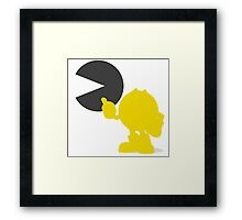 Smash Bros - Pacman Framed Print