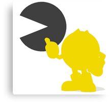 Smash Bros - Pacman Canvas Print