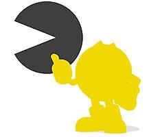 Smash Bros - Pacman Photographic Print