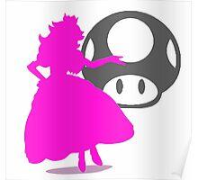 Smash Bros - Peach Poster