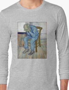 'At Eternity's Gate' by Vincent Van Gogh (Reproduction) Long Sleeve T-Shirt