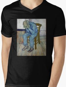 'At Eternity's Gate' by Vincent Van Gogh (Reproduction) Mens V-Neck T-Shirt