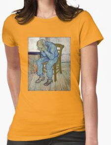 'At Eternity's Gate' by Vincent Van Gogh (Reproduction) Womens Fitted T-Shirt