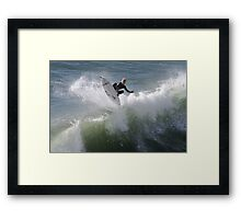 360 deg flip by surfer Framed Print