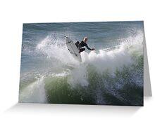 360 deg flip by surfer Greeting Card