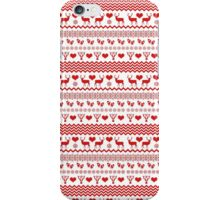 Red and White Christmas Reindeer iPhone Case/Skin