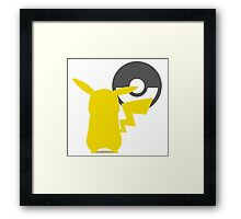 Smash Bros - Pikachu Framed Print
