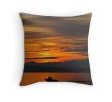 Puget Sound Sunset Throw Pillow